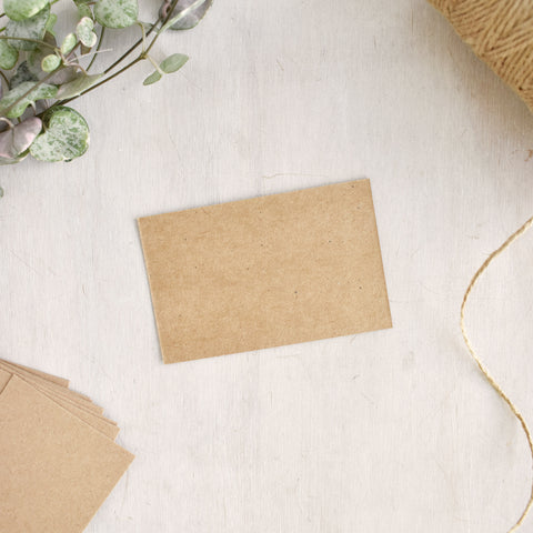 Blank Brown Kraft Business Cards 85 x 55mm