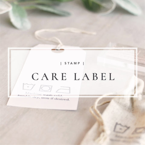 Custom Care Label Stamp for Washing Instructions with Garment Care Icons