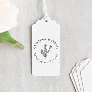 Circle Botanical Custom Wedding Stamp | Save The Date
