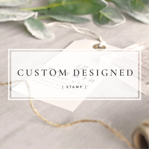 Custom Designed Stamp | Personalised Business Stamp