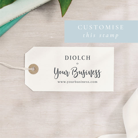 Custom Diolch Stamp | Welsh Thank You