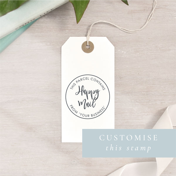 Happy Mail Stamp | Circle or Rectangle