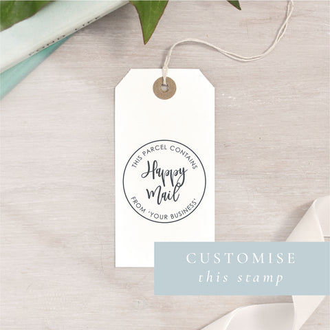 Custom Happy Mail Stamp | Circle or Rectangle