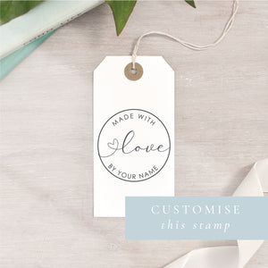 Custom Made With Love Stamp | Circle or Rectangle