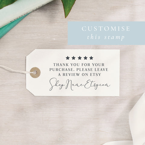 Custom Leave A Review Stamp