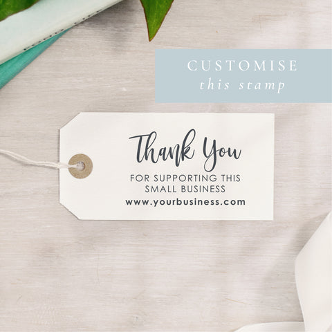 Custom Thank You For Supporting Small Business Stamp