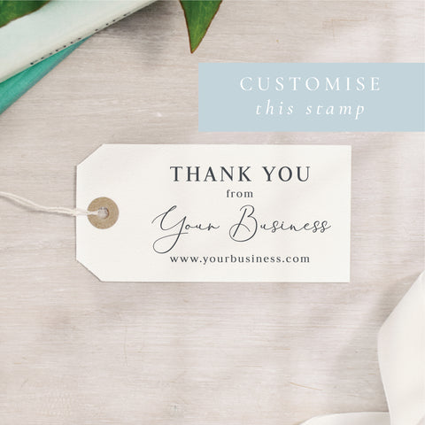 Custom Thank You Stamp | Rectangle or Circle