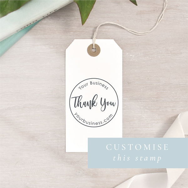 Thank You Stamp | Rectangle or Circle