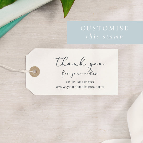Thank You For Your Order Stamp | Rectangle or Circle