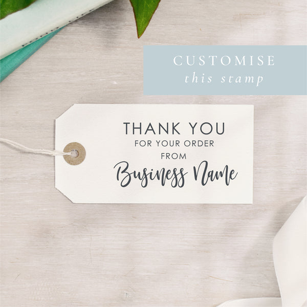 Custom Thank You For Your Order Stamp | Rectangle or Circle