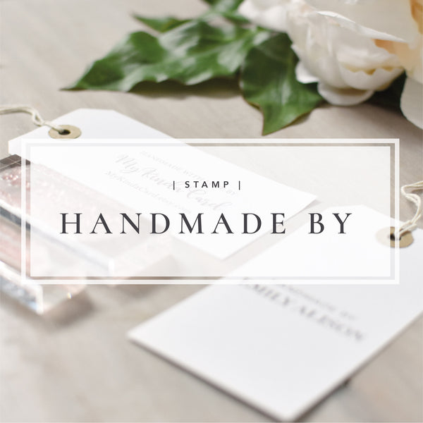 Custom Handmade By Stamp | Handmade With Love Stamp