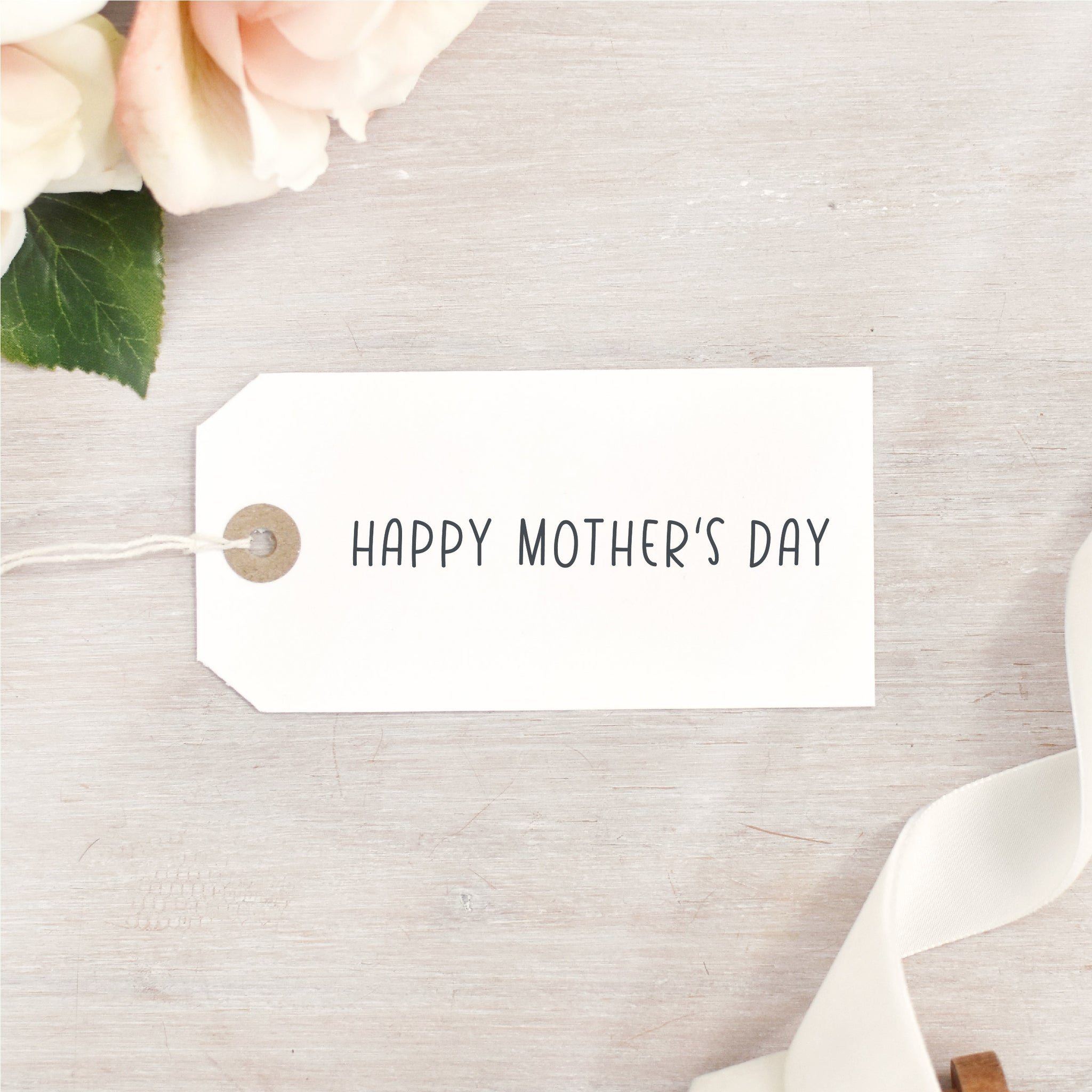 Happy Mother's Day Stamp | Single Line Simple