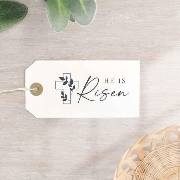 He Is Risen Easter Cross Stamp