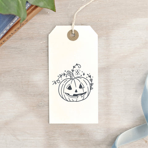 Jack O Lantern Carved Pumpkin Halloween Stamp