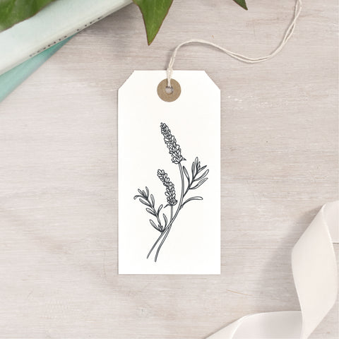 Curved Lavender Stamp | 3 Sizes