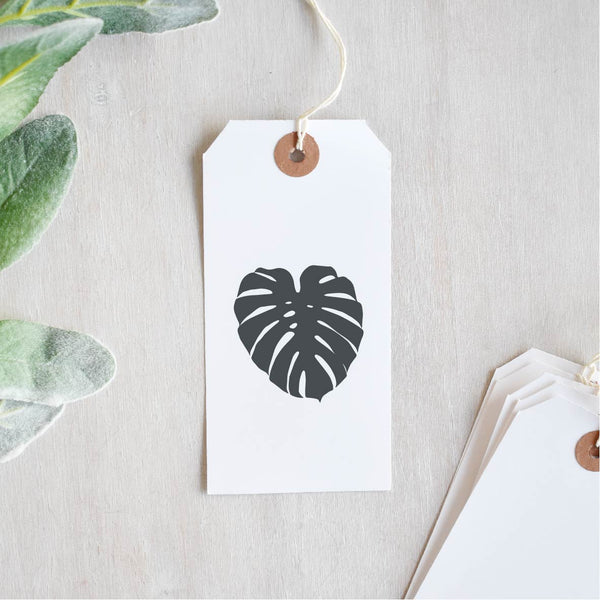 Monstera Deliciosa Leaf Swiss Cheese Plant Stamp