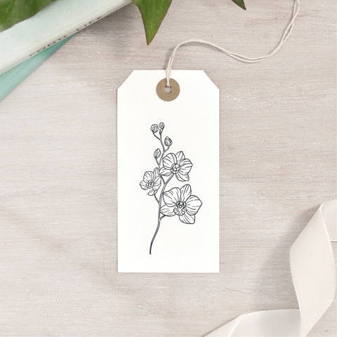 Orchid Flower Stamp | 3 Sizes
