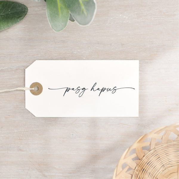 Pasg Hapus Stamp | Welsh Happy Easter | Script