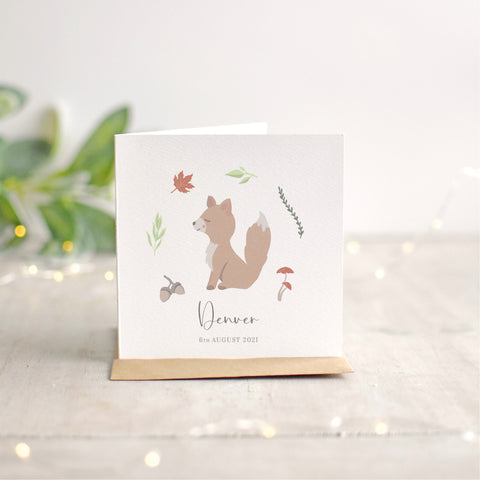Fox New Baby Card