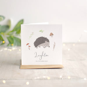 Hedgehog New Baby Card