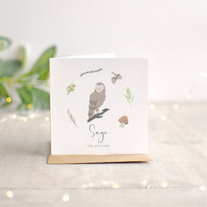 Owl New Baby Card