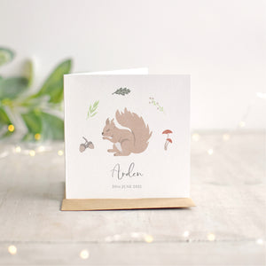 Squirrel New Baby Card