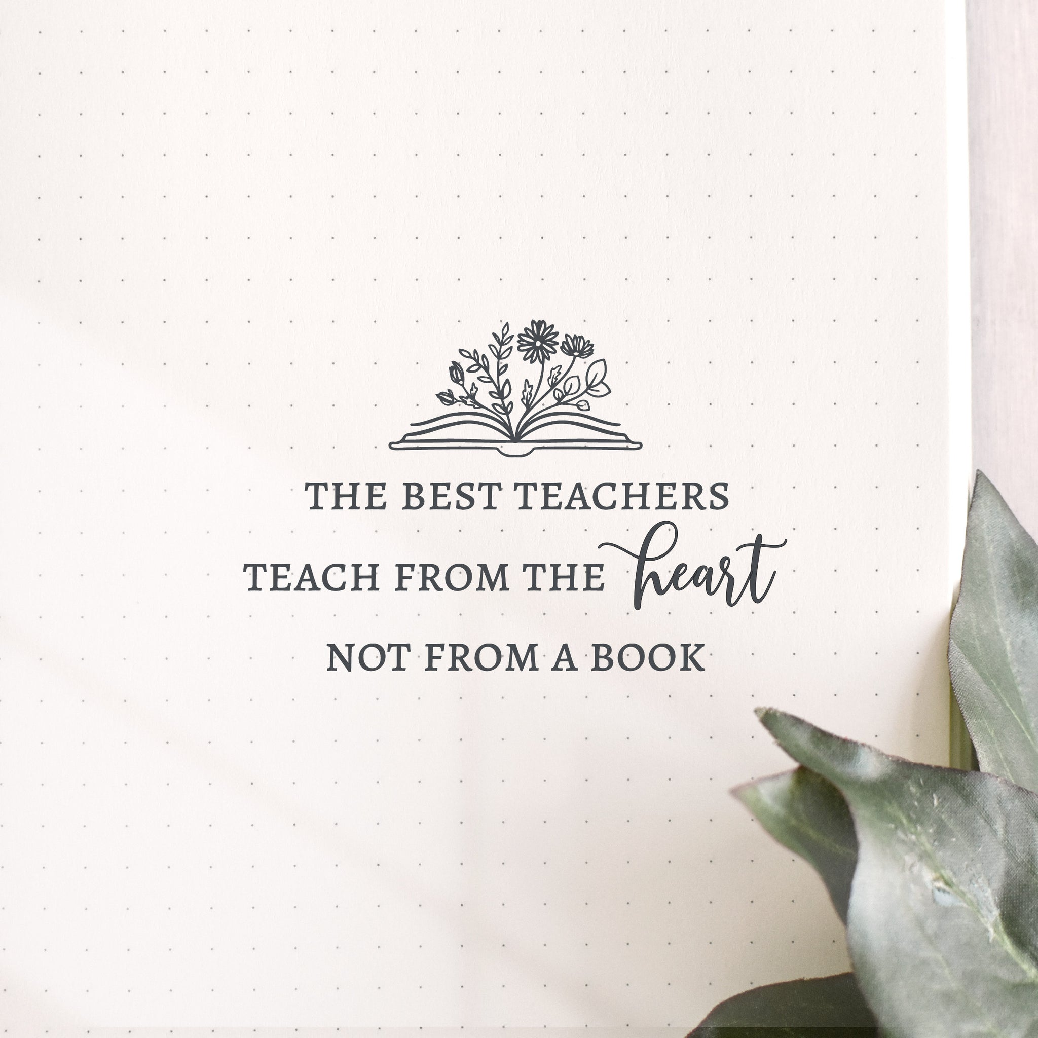 From The Heart Teacher Stamp