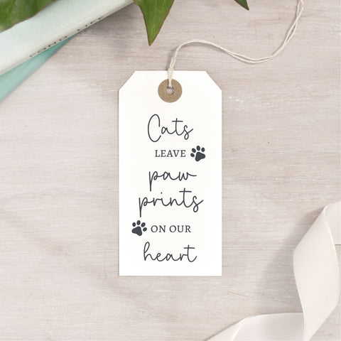 Cats Leave Paw Prints On Your Heart Stamp | Cat Quote