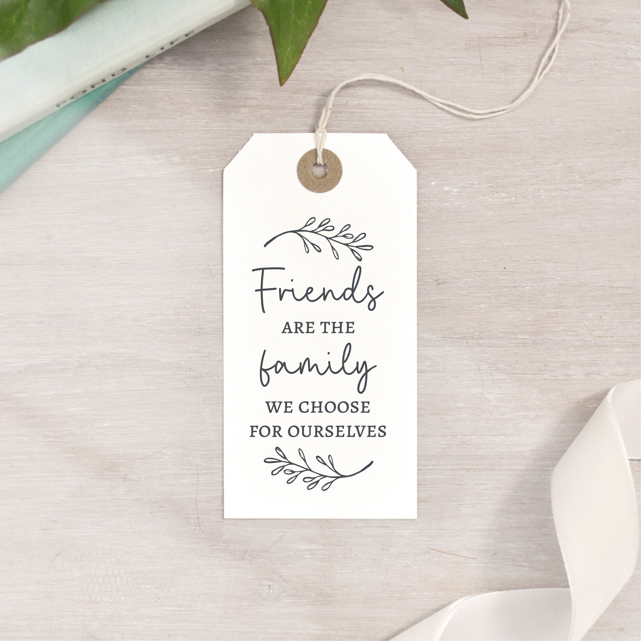 Friends Are The Family We Choose For Ourselves Stamp | Friendship Quote