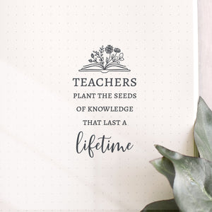Seeds of Knowledge Quote Teacher Stamp