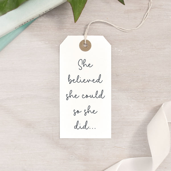 She Believed She Could So She Did Stamp | Feminist Quote