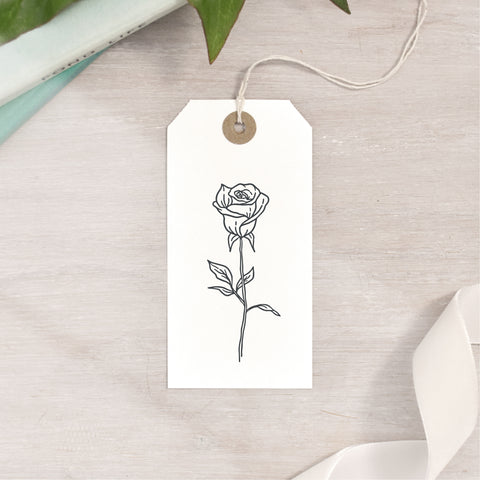 Closed Rose Bud Stamp | 3 Sizes