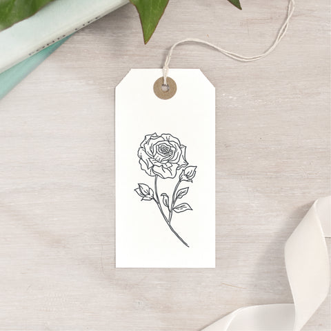 Open Rose Stamp | 3 Sizes