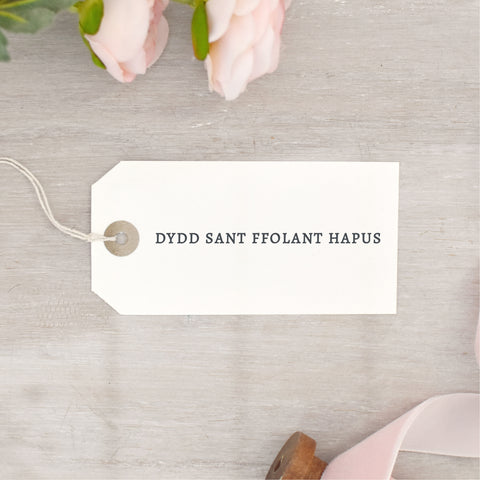 Simple Dydd Sant Ffolant Hapus Stamp | Welsh Valentine's Day Stamp