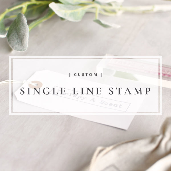 Custom Single Line Stamp | Personalised Business Logo Stamp