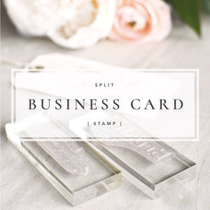 Split Business Card Stamp Set | Custom Logo and Social Media Stamp
