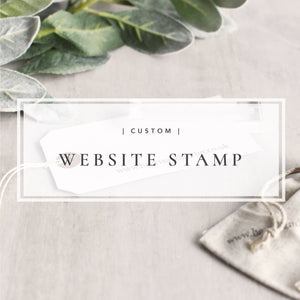Custom Single Line Website Stamp |  Business, Social Media or Etsy Shop Stamp