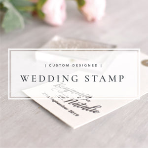 Custom Designed Wedding Stamp