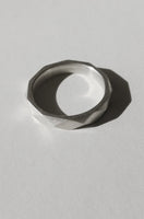 Silver Facet ring no3