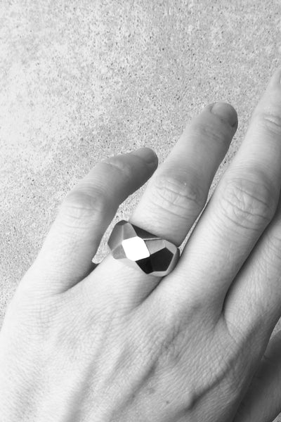 Silver Facet ring no1