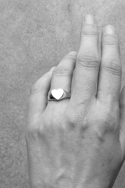 Silver Heart Ring no1