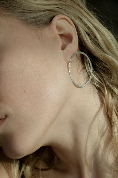 Silver Point earrings no3