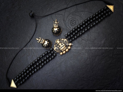 black choker antique lakshmi