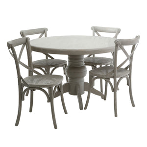 5 Piece Vermont Oakland Dining Set Grey - Ezzo