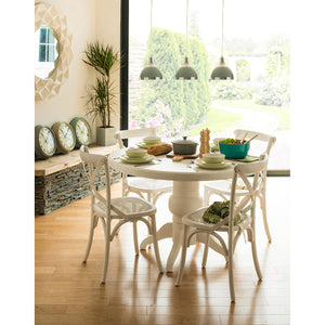 5 Piece Vermont Oakland Dining Set White - Ezzo