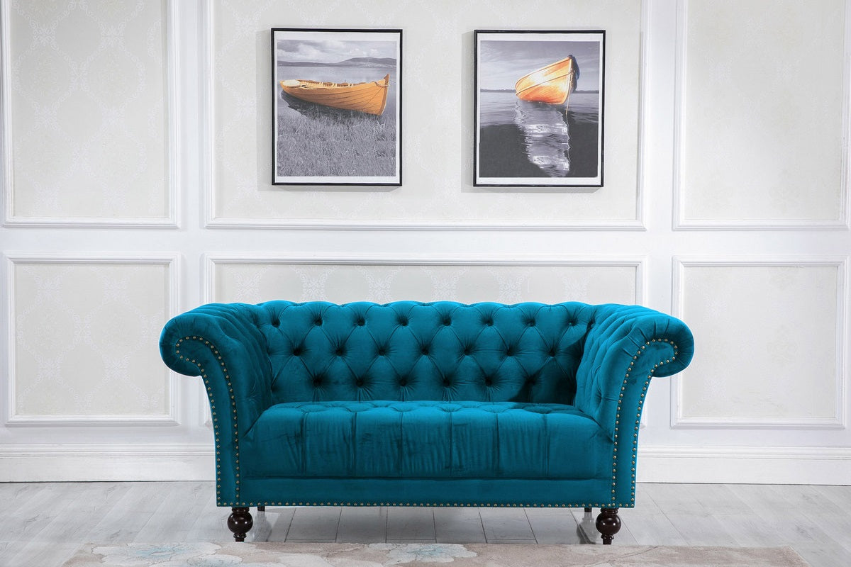 Aldford 2 Seater Sofa in Blue - Ezzo