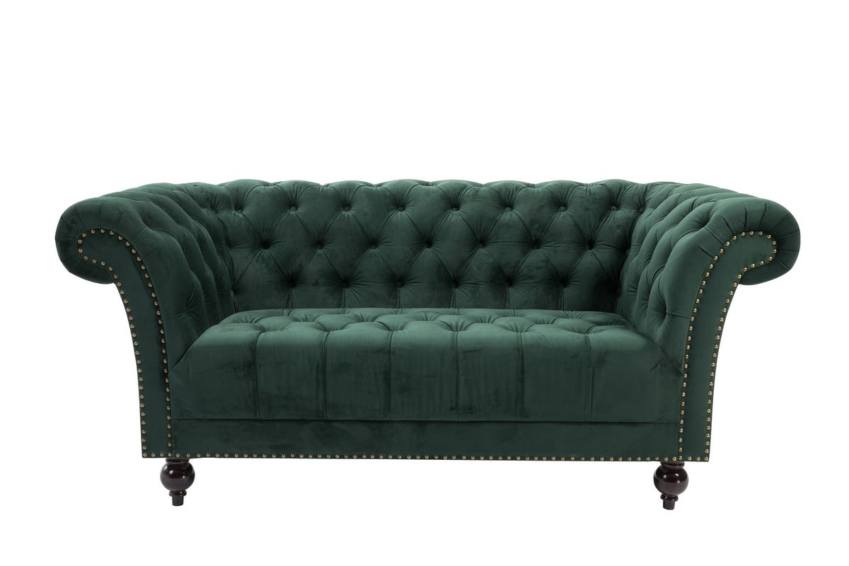 Aldford 2 Seater Sofa in Green - Ezzo