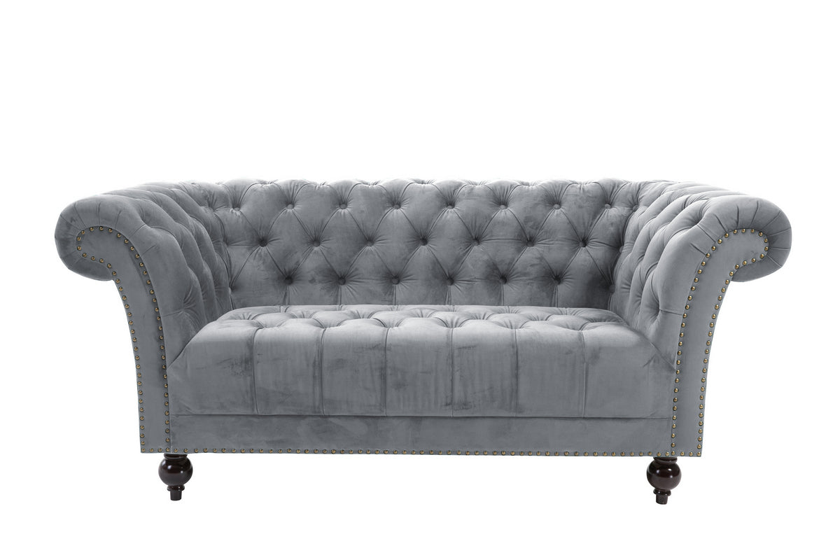 Aldford 2 Seater Sofa in Grey - Ezzo