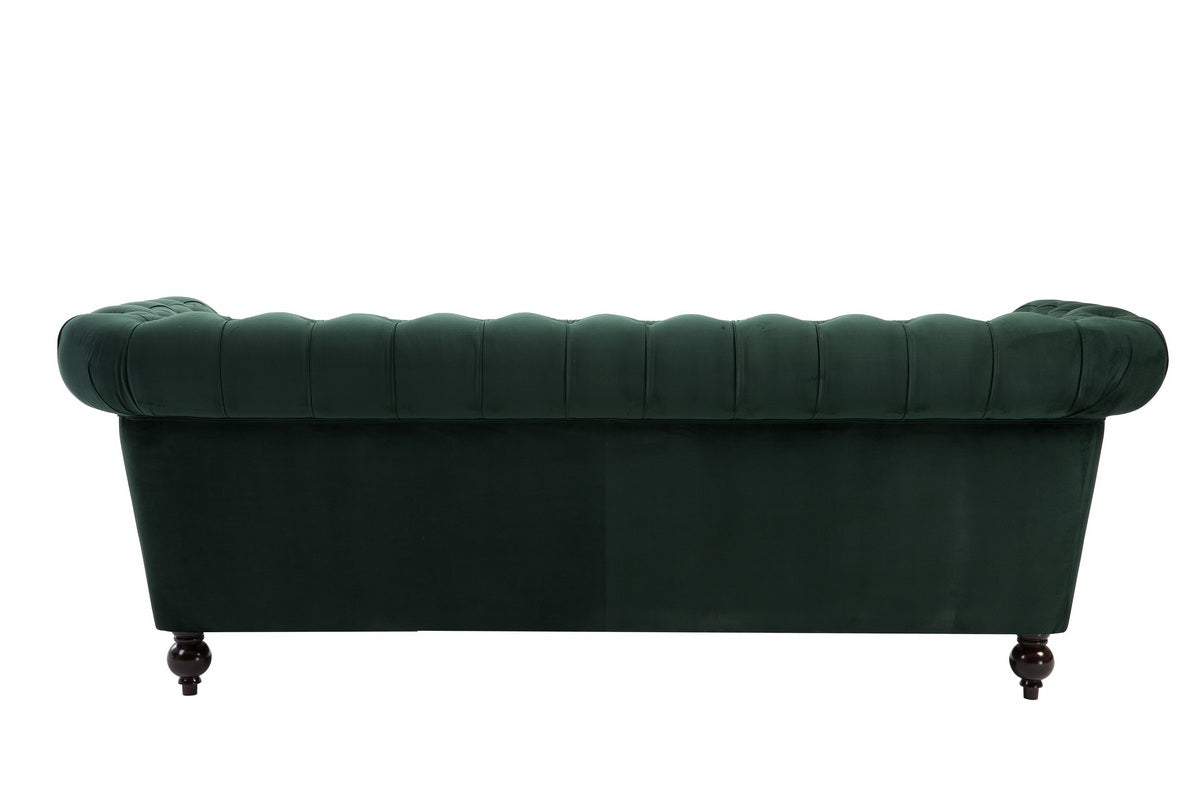 Aldford 3 Seater Sofa in Green - Ezzo