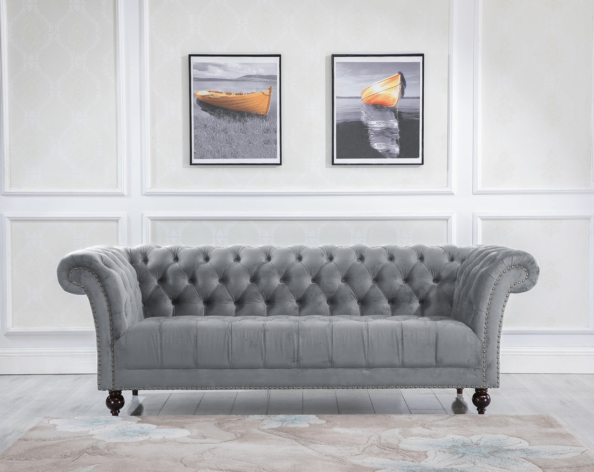 Aldford 3 Seater Sofa in Grey - Ezzo